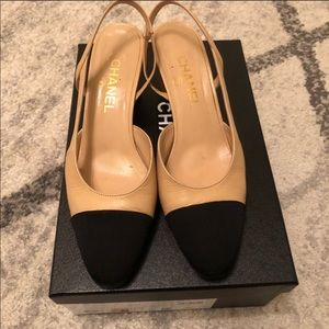Authentic Chanel Slingbacks